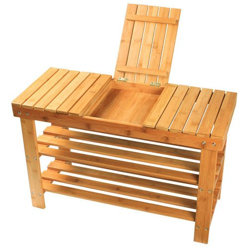 Sobuy 100 Bamboo Shoe Rack Bench Seat With Storage Draw