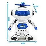 Peradix-Robot-Radio-Command-360-degrs-de-rotation-intelligente-Jouets-Robots-lectrique-Danse-Marche-avec-Musique-Lumire-Fonction-super-Dformation-Capacit-Modle-Cadeau-Jouets-ducatifs-pour-enfants