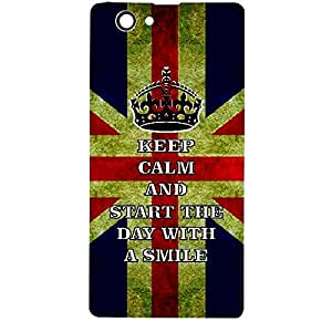 Skin4gadgets Keep Calm and Start Day with a Smile No.1 - Colour - UK Flag Phone Skin for SONY XPERIA Z1