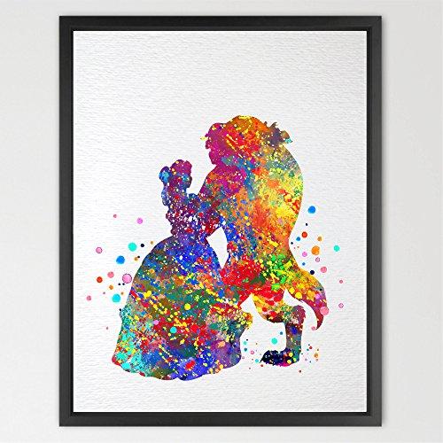 Dignovel-Studios-Beauty-and-the-Beast-Belle-Disney-Princess-Watercolor-Art-Print-Wall-Art-Poster-Kids-Room-Decor-Wall-Hanging-Birthday-gift-Wedding-Gift-N026
