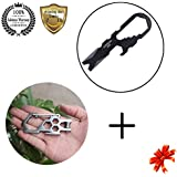 Meanhoo Carbon Steel Para-biner Carabiner Pulley System Carabiner For Survival Tools EDC Stainless Steel Tactical...