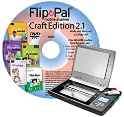 Flip-pal mobile scanner with Creative Suite Craft Edition DVD