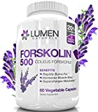 """Lumen Naturals Forskolin 500mg 2X Strength 20% Standardized - Get the """"Insta Belly Melt"""" Research Verified Pure Coleus Forskohlii Extract for Weight Loss - Shown to Rapidly Burn Fat & Increase Metabolism - Supplement for Men & Women - No Negative Side Effects"""