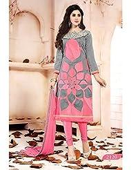 Typify Chanderi Semistitch Dress Material - B0180NZBG6