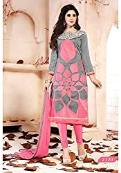 Typify Chanderi Semistitch Dress Material