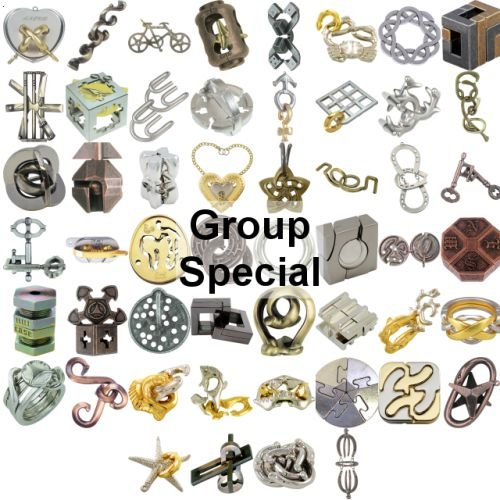 Cheap Fun Hanayama Group Special – a set of 52 Hanayama puzzles (B004QIYQ1G)