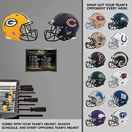 Green Bay Packers Fathead Wall Graphic - Team Schedule Pack