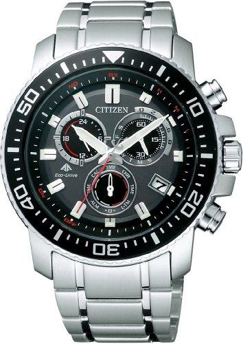 CITIZEN (シチズン) 腕時計 PROMASTER プロマスター Eco-Drive エコ・ドライブ 電波時計 クロノグラフ PMP56-3051 メンズ