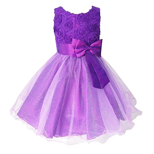 b47afc9cce8 Girls 3D Flower Wedding Bridesmaid Party Dress (Size 8