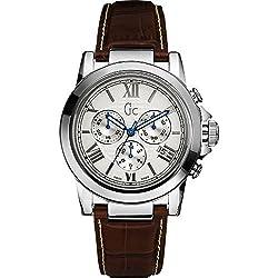 Gc Analog White Dial Mens Watch - X41003G1