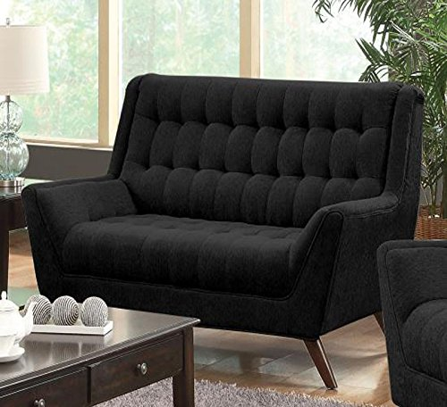 1PerfectChoice Natalia Black Retro Loveseat 0