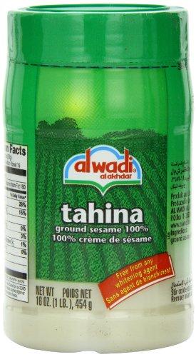Al Wadi Tahina, 100% Ground Sesame, 16-Ounce Jars (Pack of 6)