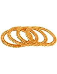 Handicraft Kottage Gold Metal Bangle Set For Women - Set Of 4 (HK-ABGM-3217)