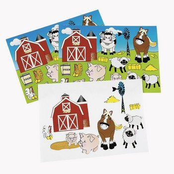 ~ 12 ~ Make-a- Farm / Barnyard Sticker Sheets ~ 252 Stickers ~ NEW