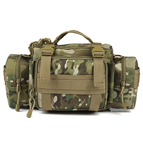 YAAGLE Outdoor Hüfttasche 3P Nylon Schultertasche Kuriertasche Umhängetasche Freizeit Reisetasche Sporttasche-Tarnung 3