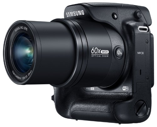 Samsung WB2200F 16.3MP CMOS Smart WiFi & NFC Digital Camera with 60x Optical  Zoom, 3.0″ LCD and 1080p HD Video (Black)
