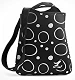 LePrene Perfect Bag Stylish Insulated Neoprene 2 Bottle Wine Water Carrier Lunch Bag. Great 4th of July Tote for Cold Drinks and Snacks. Impeccably Designed by Women with Reinforced Cross-body Strap