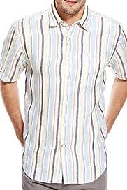 Pure Linen Varied Striped Shirt [T25-7888B-S]
