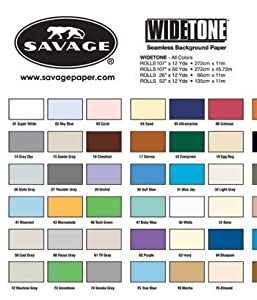 Savage 53X12-76 Seamless Background Paper 53-Inch by 12 Yards, Mocha