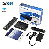 Freesat V7 DVB-S2 Receptor Digital Satellite TV Receivers Full 1080P HD Free to Air Decoder Youtube,Support USB WIFI,PVR,Powervu,DRE & Bisskey