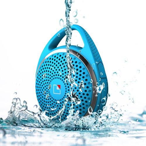 Whitelabel Sounddew Wireless Water Resistant Shower Speaker Waterproof Bluetooth Speaker With Microphone Blue