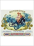Automotor Brand Cigar Box Label Autmobilia (Playing Card Deck 52 Card Poker Size With Jokers)