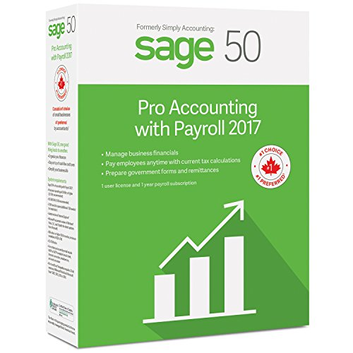 Sage 50 Pro Accounting 2017 with Payroll Services