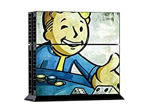 CloudSmart Fallout 4:Vault Boy Approved Sony Playstation 4 Skin Sticker Vinyl Stickers for PS4 Console x1 Controller Skins x2
