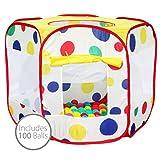 Bentley Kids - Carpa / piscina de bolas mutlicolor para interiores y exteriores - Incluye 100 bolas