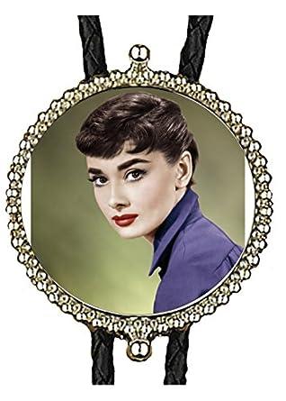 Audrey Hepburn Hand Made Bolo Tie Celebrities Photos Photographs Bolo