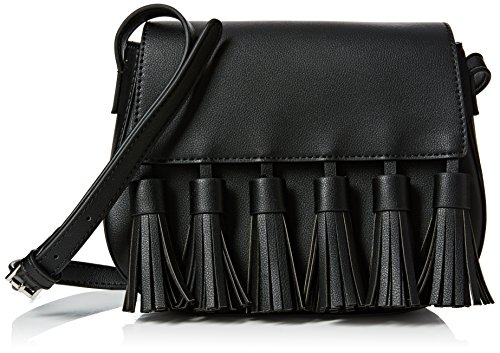 French Connection Multi Tassel Brea Saddle Bag,  Nero Nero
