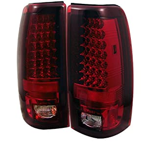 Spyder Chevy Silverado 1500/2500 99-02 (Not Fit Stepside) / GMC Sierra 1500/2500/3500 99-03 LED Tail Lights - Red Clear