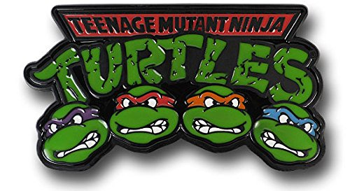 TEENAGE MUTANT NINJA TURTLES 4 Characters Enamel Finish Metal BELT BUCKLE
