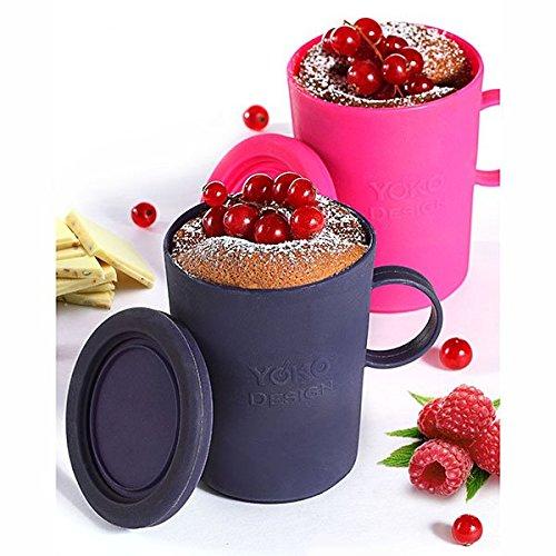 Yoko Design - Moule à Mug Cake X 2 Fuchsia/Prune