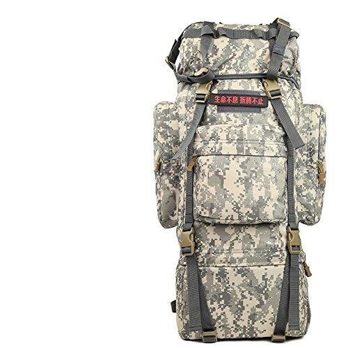 100L sac surdimensionné / extérieur / tactique / sac d'alpinisme sac à dos / sac à bandoulière camouflage-4 70L