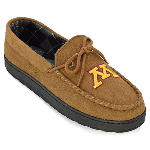 NCAA Minnesota Golden Gophers Men's Moccasin Team Logo Slippers, Size 8, Chestnut (Comfy Feet Slippers Minnesota compare prices)
