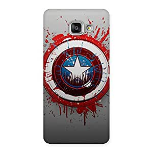 Gorgeous Premier Blood Round Multicolor Back Case Cover for Galaxy A7 2016