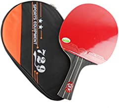RITC 729 Friendship 2-STA R2STA R2 STA RPips-In Table Tennis Racket with Case for Ping Pong Shakehan
