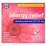 Rite Aid Allergy Medication, 25 mg 48 capsules