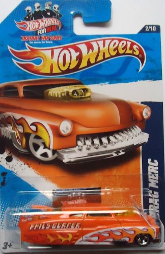 2011 Hot Wheels 122/244 - HW Drag Racers 2/10 - '49 Drag Merc (Orange) - 1