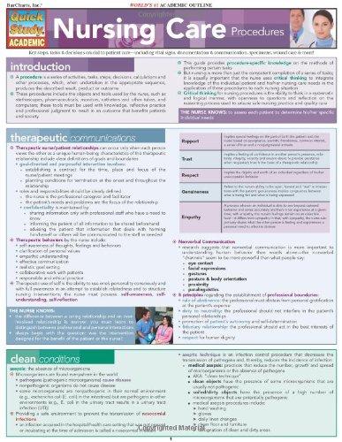 Nursing Care Procedures (Quickstudy: Academic)