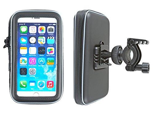 smart2Bike-Fahrradhalterung-Motorrad-Halterung-mit-Schutz-Tasche-fr-Smartphone-Navigator-Handy-uvm-Display-Diagonale-Universal-bis-55-passend-zu-Samsung-Galaxy-S7-S6-HTC-One-Sony-Experia-Z-Microsoft-N