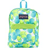 "JanSport Superbreak Backpack - Zap Green Bubble Gum Pop / 16.7""H x 13""W x 8.5""D"