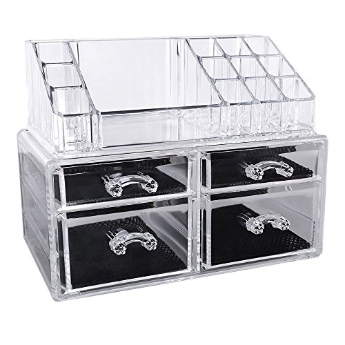 songmics acryl kosmetik aufbewahrung organizer 4. Black Bedroom Furniture Sets. Home Design Ideas