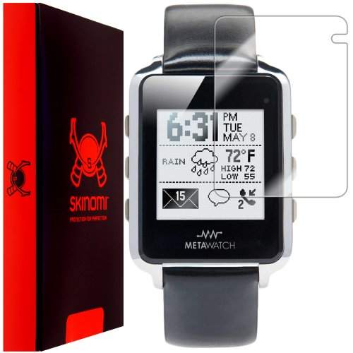 MetaWatch Frame Screen Protector, Skinomi TechSkin Full Coverage Screen Protector for MetaWatch Frame Clear HD Anti-Bubble Film (Metawatch Frame compare prices)