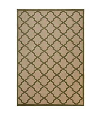 Tapis a Porter Alfombra Galata Crema/Verde 80 x 150 cm