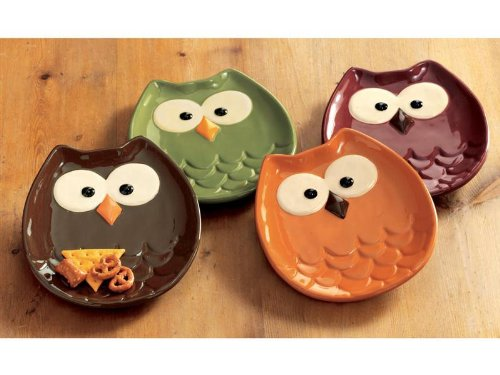 Owl Shaped Appetizer Plates
