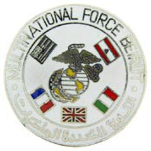 U.S.M.C. Multinational Force Beirut Pin 1 1/2