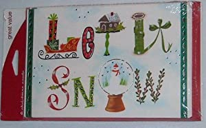 Let It Snow Christmas Cards Value Pack