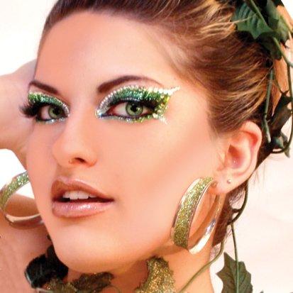 ENVY Xotic Eyes Green Glitter Professional Make Up Dancer Costume St Patricks Day at Gotham City Store